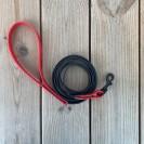 Pavadėlis augintiniui, juodas su raudonom detalėm