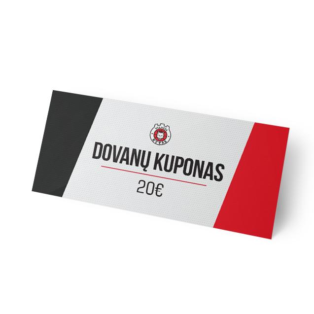 Dovanų kuponas, 20€ vertės