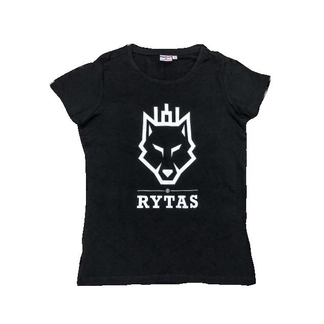 """Moteriški marškinėliai """"Vilkas"""", juodi (išpardavimas)"""