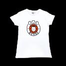 Moteriški marškinėliai su logotipu, balti