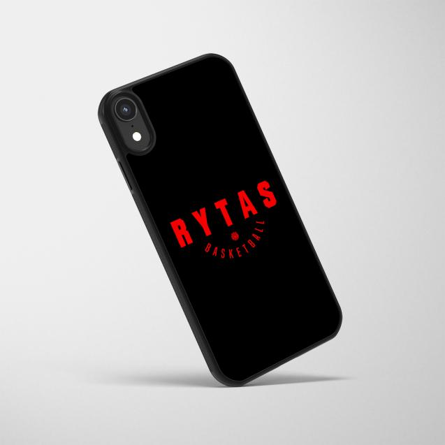 """Telefono dėklas """"Rytas basketball"""", juodas"""