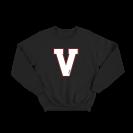 """Bliuzonas """"V"""", juodas (laisvesnis modelis)"""