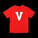 """Marškinėliai """"V"""", raudoni"""
