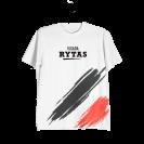 """Marškinėliai """"Visada Rytas"""", balti (didinti)"""