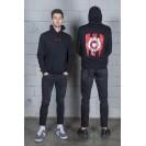 Džemperis su logotipu ant nugaros, juodas