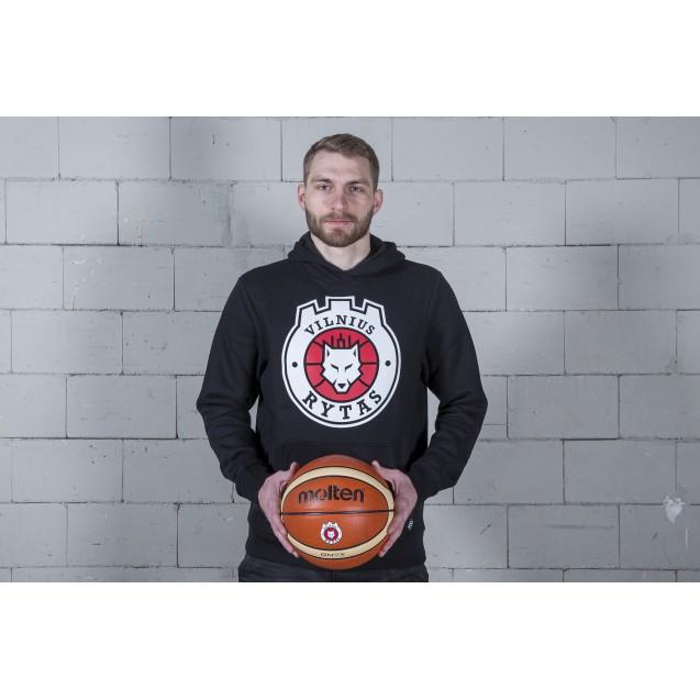 Džemperis su logotipu, juodas