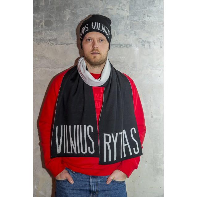 """City Edition šalikas """"Rytas Vilnius"""", juodai baltas"""