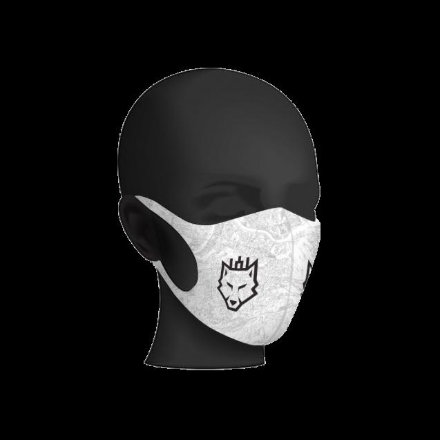 """#RytasFamily veido kaukė """"Vilkas"""", balta"""