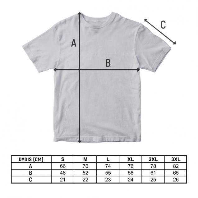 Pilki sirgaliaus marškinėliai su logotipu
