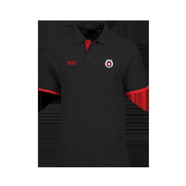 Polo marškinėliai su logotipu, juodi