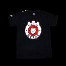 """Originalūs """"Ryto"""" moteriški marškinėliai su logotipu, juodi"""