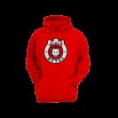 Džemperis su logotipu, raudonas