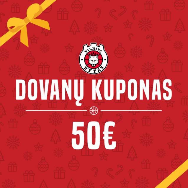 50€ vertės dovanų kuponas