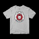Marškinėliai su logotipu, pilki