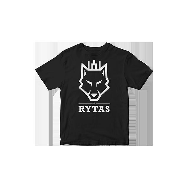 """Vaikiški marškinėliai """"Vilkas"""", juodi"""