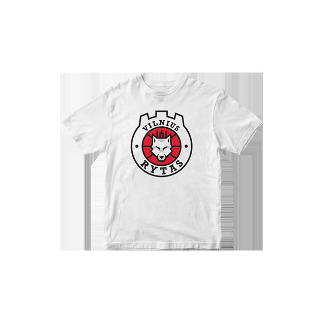 Vaikiški marškinėliai su logotipu, balti