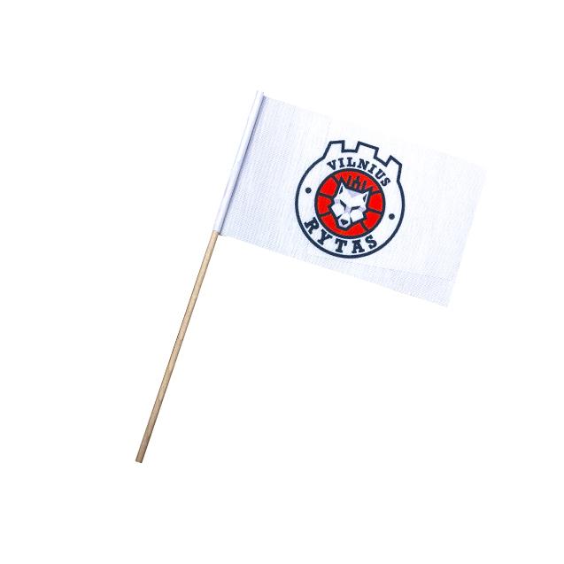 Medžiaginė vėliavėlė su koteliu