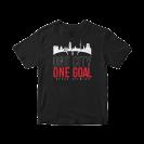 """Marškinėliai """"One City, One goal"""", juodi"""